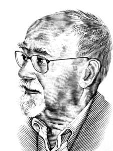 Portrait of Harry Harrison by Bill Sanderson